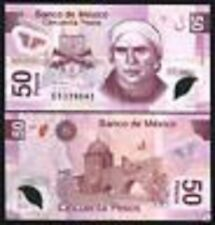 MEXICO 50 PESOS 2006 BUTTERFLY POLYMER *E* SERIES LATINO MEXICAN MONEY USED NOTE