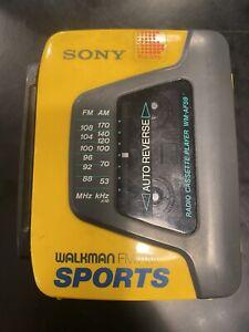 SONY WALKMAN SPORTS RADIO CASSETTE PLAYER WM-AF59 Vintage