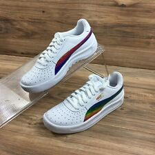 Puma Youth GV Special Iriidescent Sneakers Shoes White Size 7C New