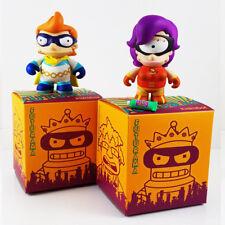 Super Fry + Super Leela Mini Figures Bundle Pack Futurama x Kidrobot
