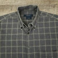 Zegna Sport Men's Shirt Size Small Italy Gray Check Plaid