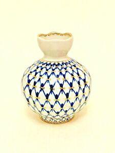 Vintage. USSR. Imperial porcelain factory. vase. cobalt. gold 22K. Porcelain.