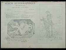 ALBUM AUTOGRAPHIQUE 1867 - GUSTAVE MOREAU, DANTAN VERLAT MONNIER DE LA SIZERANNE