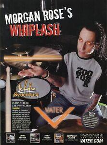 2007 Print Ad of Vater Whiplash Drumsticks w Morgan Rose of Sevendust