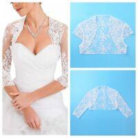 Women Sheer Lace Top Bolero Elegant Cardigan Open Front Crop Shawl Shrug Wedding
