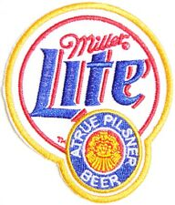 Patch Iron on Embroidered Applique for Miller Lite Beer Advertising Sign Logo