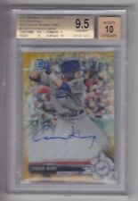 CONNOR WONG 2017 Bowman Chrome Gold Wave Refractor Rookie Auto #D /50 BGS 9.5 RC