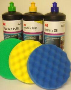 3x 1L 3M Perfect-it III Fast Cut Plus+ Extra fine+ Ultra fine 50417+80349+50383