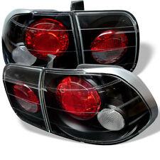 Honda 96-98 Civic 4dr Black Euro Style Tail Lights Brake Lamp DX GX EX LX Sedan