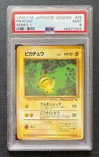 Pokemon 1998 PSA 9 Pikachu Vending Series 1 #25 Japanese