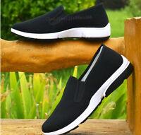 Men Kung Fu Martial Arts Tai Chi Shaolin Wingchun Driving Slipper Shoes Black