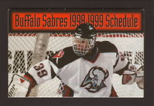 Buffalo Sabres--Dominik Hasek--1998-99 Pocket Schedule--MasterCard