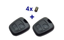 2x2Tasten Schlüssel Gehäuse für CITROEN SAXO XSARA PICASSO C2 C3 C4 + 4x Taster