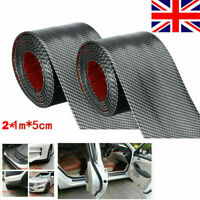 2M Carbon Fiber Car SUV Scuff Plate Step Guard Protector Door Sill Cover UK New