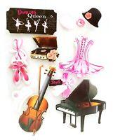 DANCE QUEEN RECITAL Ballet Music - Crafter's Square 3D Scrapbook Craft Sticker