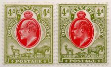 (I.B) Orange River Colony Postal : 4d Scarlet & Sage Green (both printings)