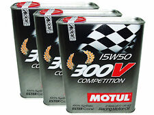 (6L=6.34 QT) MOTUL 300V 15W50 COMPETITION RACING 100% SYNTHETIC ENGINE OIL