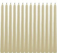 Light in Dark Ivory Taper Candles Set of 14 Dripless Candles 10 inch Unscented