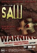 SAW 1..DANNY GLOVER..GARY ELWES...REG 4...NEW & SEALED....HORROR