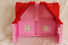 LEGO DUPLO 5639 10505 rosa Familienhaus 2 x Dach Giebel (Dächer) 4 x Wand NEU