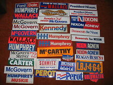 GROUP OF 30  + UNUSED POLITICAL BUMBER STICKERS
