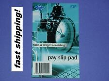 Zions Systems Pay Slip Pad time & wages recording PSP 50 slips per pad