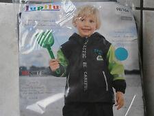 Veste imperméable enfant LUPILU 2/4 ans Noir Vert..polaire..NEUVE