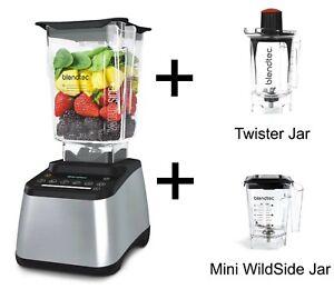 Mixer Blendtec Concepteur 725 Argent + Twister Jar +Mini Wildside Jar Neuf