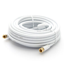 30m HDTV sat cable antena con F-Enchufe TV, cable coaxial 4k fernsehanschluss blanco