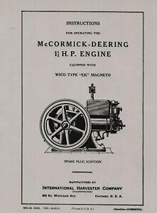 IHC McCormick Deering 1½ H.P. Operating Instructions
