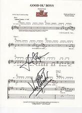 The Dukes of Hazzard SIGNED Good Ol' Boys theme sheet music COA Bo & Luke