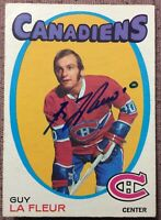 ** SIGNED** 1971-72 OPC #148 GUY LAFLEUR ROOKIE CARD ~ MONTREAL CANADIENS ~ EX