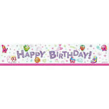 SHOPKINS Party Banner 1.5m x .3m Birthday Kids Decoration