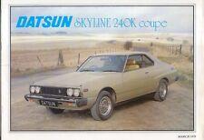 Nissan Datsun Skyline 240K GT Coupe 1979 Original UK Sales Brochure