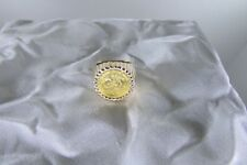 14k Yellow Gold Coin Ring  Size 7