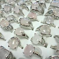 50pcs Light Colors Amethyst Rings Wholesale Jewelry Women MIxed Fashion Lots