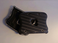 SPORTSTER 04 & UP RIBBED ROCKER BOX COVERS:SEMI POLISHED , BLACK, BLACK CONTRAST