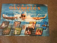 Vintage Scholastic 2 Sided Map of the Solar System & 1984 Olympics Ver Nice !!