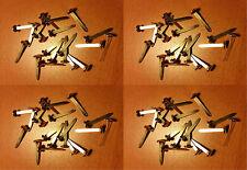 Quattro confezioni da 20 x 25 mm OTTONE SPLIT PIN/elementi di fissaggio su carta (80 in (ca. 203.20 cm) totale)