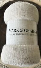 Mark & Graham Colorblock Throw Blanket Natural/Ivory FabFitFun Winter 50x60� $49