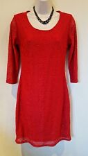 Fransa red Lace stretch body con dress Size S UK 8-10 RRP £49.99 BNWT