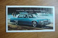1977 Original Dealer Brochure Cadillac Coupe & Sedan deVille  Fleetwood Brougham