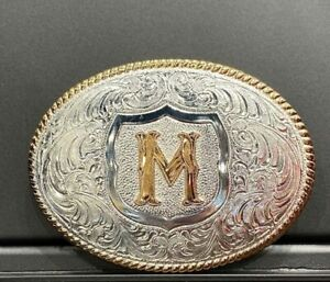 CRUMRINE OVAL INITIAL M BUCKLE - ACC BUCKLE - C10380-M
