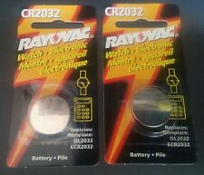 RAYOVAC  3-Volt Lithium Battery CR2032 - Lot of 2