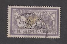 France -Timbre oblitéré - Merson 2f violet et jaune - N°122 - Perforé SG - TB