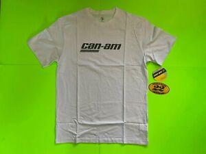 Can-Am Men's Spyder Signature White T-Shirt  **BRAND NEW**
