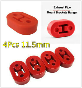 4Pcs 11.5mm Red Polyurethane Car Truck Motorbike Muffler Exhaust Hangers Bracket