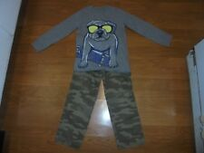 Carter's camo pants & matching long sleeve dog shirt outfit size 4 Back 2 School