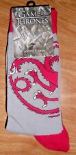 GAME OF THRONES TARGARYEN 4 PACK UNISEX CREW SOCKS NEW