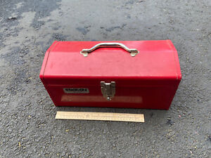 """Stack-On Mechanics 16"""" Red Toolbox Chest Tool R-516 Storage Metal Hip Roof Box"""